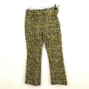Who What Wear Leopard Print Pull On Crop Pants 10